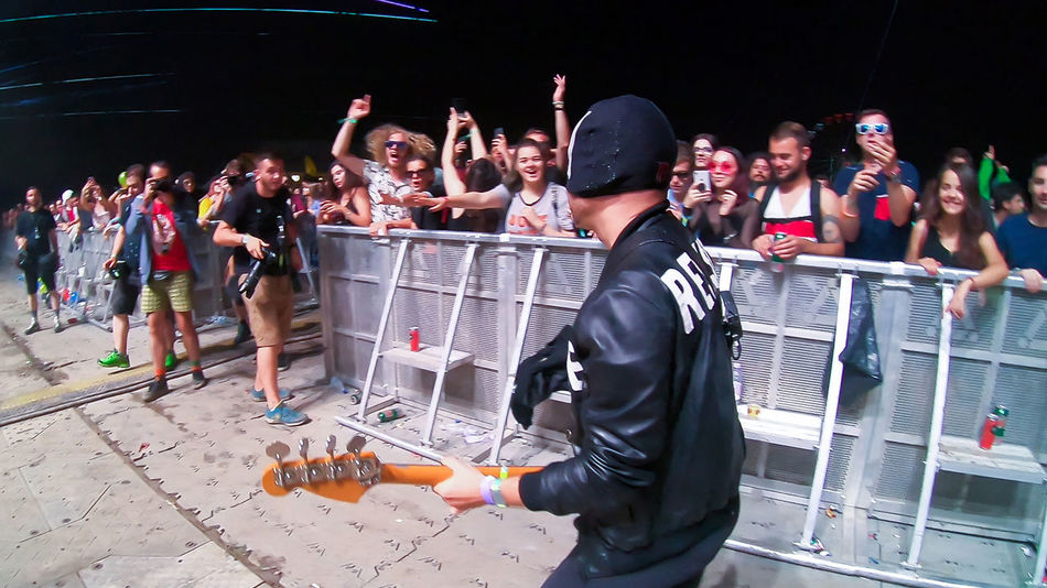 BONTIDA, ROMANIA - JULY 21, 2018: Italian electronic dance music and punk rock group, The Bloody Beetroots performing live at Electric Castle festival Concert Lights Concerto Concerts & Events Electric Castle Festival Partying Singer  Singing Stage Stage Light The Bloody Beetroots Bloody Beetroots Concert Concert Photography Concertphotography Crowd Of People Electronic Dance Music Entertainment Festival Live Show Musical Instrument Musician Performing Live Punk Rock Music Stage - Performance Space