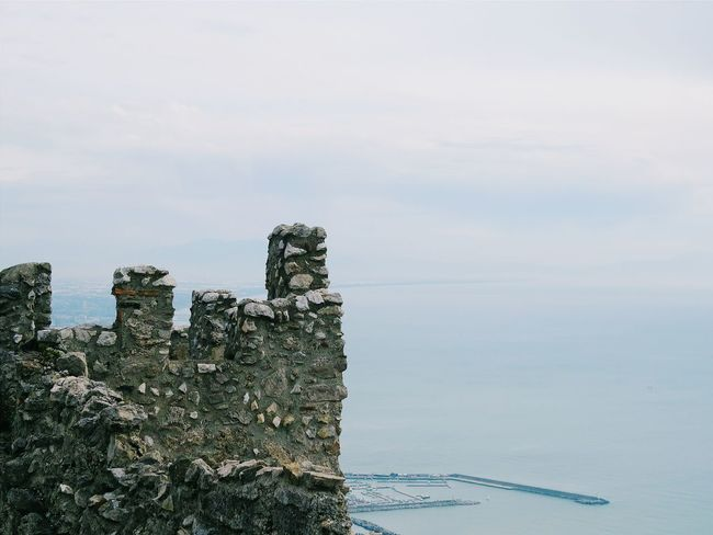 EyeEm Best Shots EyeEm Gallery EyeEmBestPics Castle Castle Ruin Castle View  Landscape Overlook Outdoors Water Sea Sky Tranquil Scene Fortified Wall Medieval Fortress Horizon Over Water Scenics Non-urban Scene Foggy