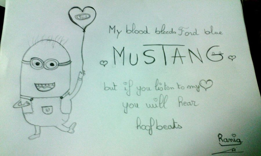 Hello World Studying Likeforlike Ford Mustang Mustang Love Mustang<3 Minions ♥♥