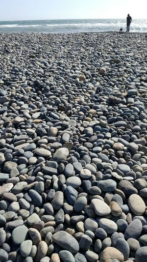 Pebble Beach Sea Nature Horizon Over Water Pebble Beach Tranquil Scene Outdoors Water Day Beauty In Nature