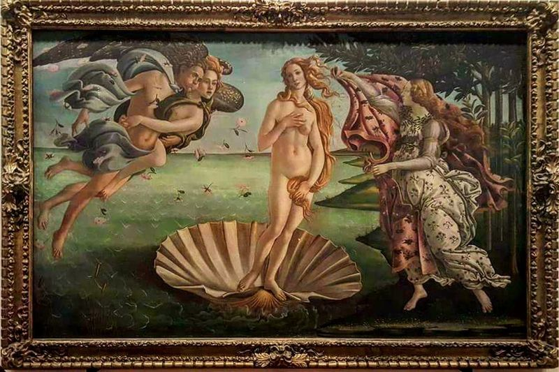 Botticelli Venere Art Art And Craft Creativity Human Representation Tourism Green Color Flower Florence Italy Florence Florence Cathedral Uffizi Uffizi Museum Uffizigallery Mythology Representation