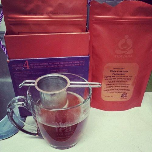 Tea time. Teavana Whitechocolatepeppermint Maketeanotwar