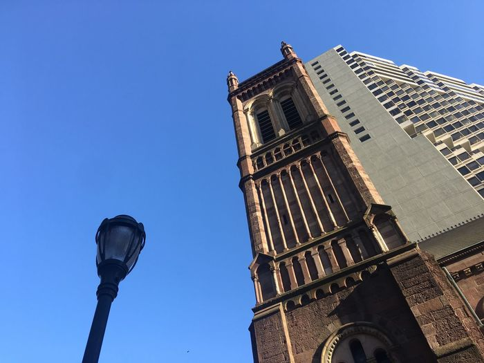 House Of Worship Place Of Worship Church Exterior Church Tower Architecture Low Angle View Built Structure Sky Building Exterior Building Tower Clear Sky Tall - High Travel Destinations No People Outdoors