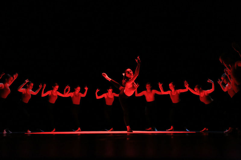 Ballerina Ballet Ballet Dancer Black Background Bolero Illuminated Medium Group Of People Ravel Red Show Side By Side Scenics