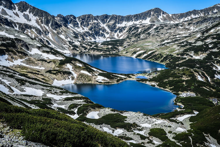 Idyllic View Of Lake By Tatra Mountains During Winter