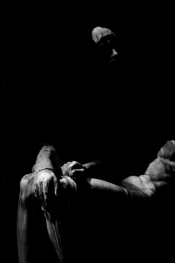 Figure Hands Lost Black Background Blackandwhite Cementery Close-up Day Metal Mysterious Mystical Shaddow