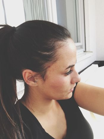 Lashextensions Long Hair Longlashes Face Faces Of EyeEm Young Adult Lifestyles Person Handsome Women Of EyeEm Self Portrait Face Of EyeEm Eyes Never Lie Pensive Pensivegirl GirlPortrait Casual Clothing Black Hair Eyemgirl Beauty Front View Young Women Selfie ✌ Fashionable