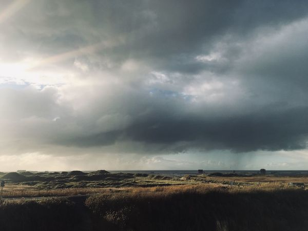 Cloud - Sky Sky Environment Scenics - Nature Nature Beauty In Nature Tranquility Tranquil Scene No People Landscape Land Outdoors Overcast Storm Horizon Water Field Storm Cloud Day Cityscape