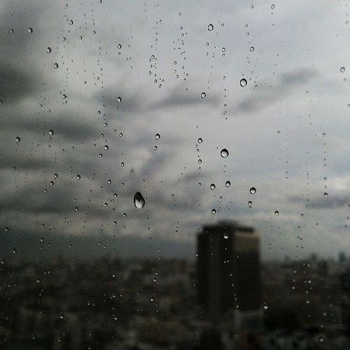 วันที่ฝนตก ...ไหลลงที่หน้าต่าง Rain Sky City Dark