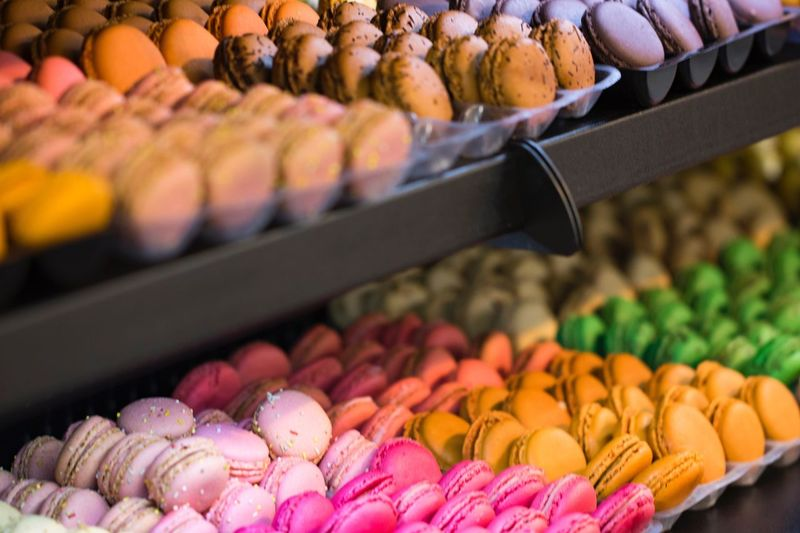 Food And Drink Freshness Retail  Variation Choice Food Large Group Of Objects For Sale Abundance Multi Colored Macarons Healthy Eating Sale Fruit No People Small Business Market Stall Sweet Food Market Indoors  Close-up