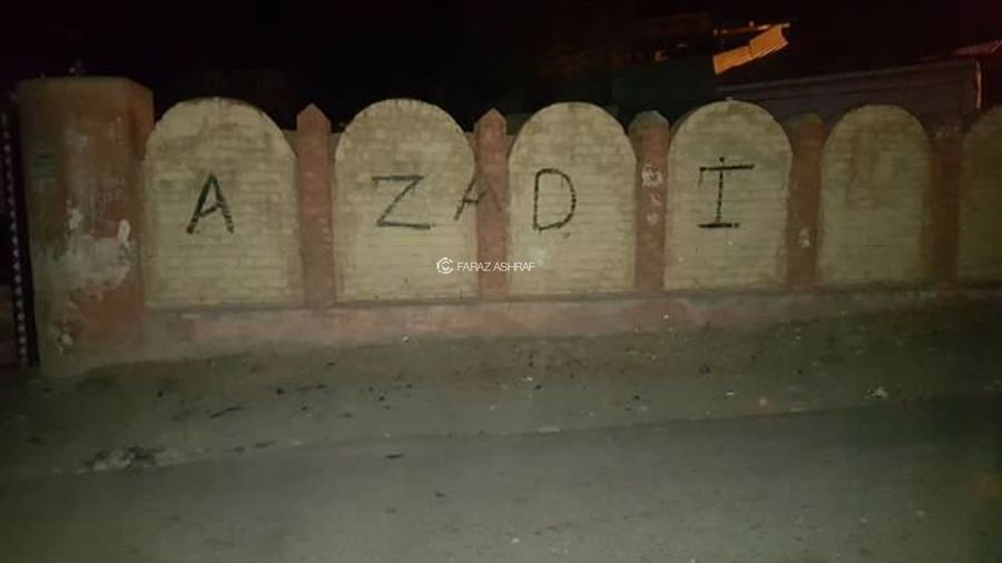 Burhan 2K16 Uprising Protests Free Kashmir Wall Graffiti Paint Protest