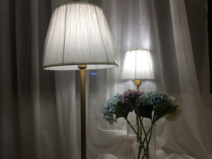 Illuminated lamps at home