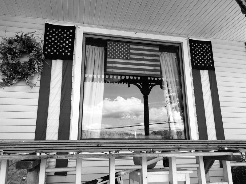 Built Structure Architecture Building Exterior Patriotism Blackandwhite Black & White Travel Pumpkin House Huntington, WV Spooky Celebration Architecture Jack O Lantern Halloween