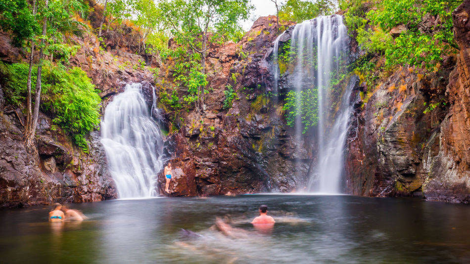 The swimming holes at Florence Falls are among the most visited tourist attractions of Litchfield National Park in Australia's Northern Territory. Australia Beauty Beauty In Nature Cliff Darwin Environment Florence Falls Flowing Idyllic Landscape Litchfield Long Exposure National Park Nature Outdoors River Rock - Object Scenics Tourism Tourist Travel Travel Destinations Vacations Water Waterfall
