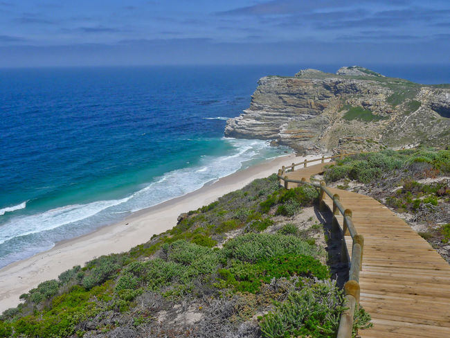 Amazing trail between Cape of Good Hope and Cape Point Lighthouse. View at Dias Beach. Beach Beauty In Nature Cape Of Good Hope Day Dias Beach Horizon Over Water Nature No People Outdoors Scenics Sea Sky Water
