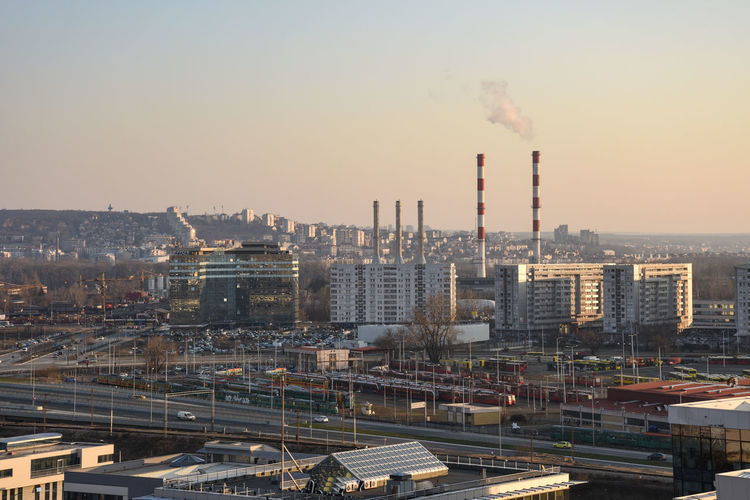 Nikon Belgrade Architecture Building Exterior Built Structure Sky City Factory Industry Smoke - Physical Structure Smoke Stack Pollution Cityscape Nature Environmental Issues Emitting Tall - High Chimney No People Building Environment Outdoors Air Pollution Fumes Atmospheric
