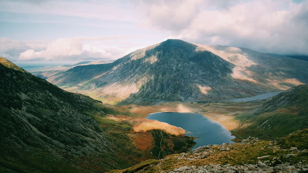 Glyder Fawr Hikingadventures Landscape Beauty In Nature Mountain Mountain Peak Outdoors Scenics Nature Sky Clouds Cloud And Sky Sunray What Who Where Sunrays_penetrating_clouds Wales Uk TheGreatOutdoors