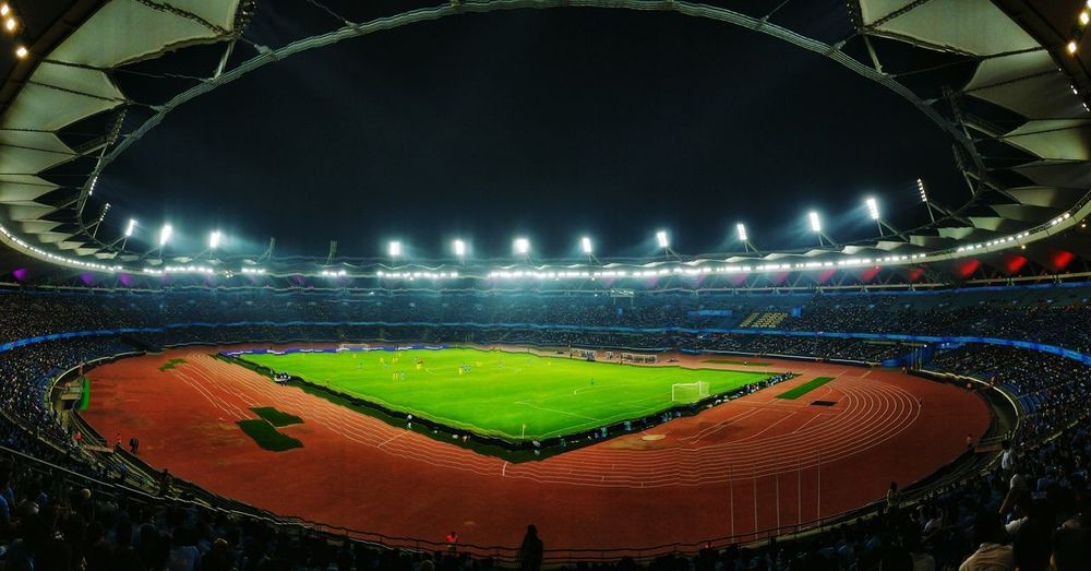 Fifawcu17 Stadium JawaharlalNehruStadium Photography Indiav/scolombia Match Football Stadium Stadium Architecture Stadium Lights Stadiumcrowd Greenery Delhi Newdelhi India Indianphotographer Jlnstadium Playing Field
