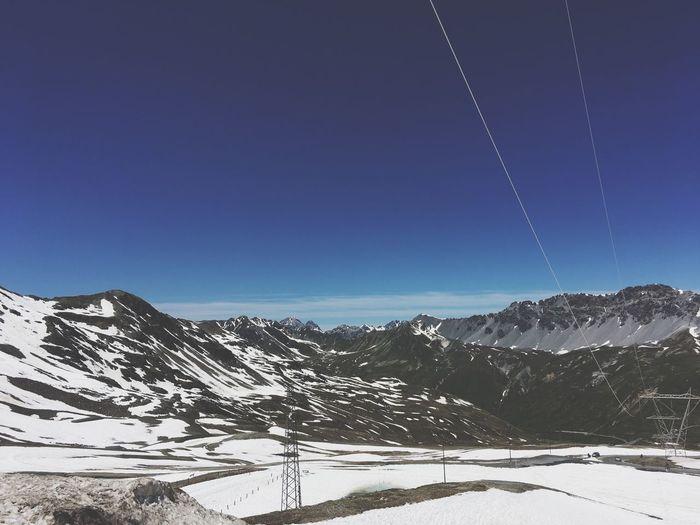 Winter Snow Cold Temperature Blue Mountain