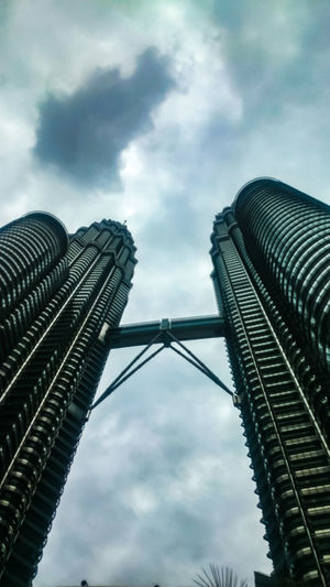 Amazing HUH !! Cloud - Sky Sky Low Angle View Architecture Skyscraper Built Structure Bridge - Man Made Structure City Outdoors Travel Destinations No People Day Building Exterior Modern The Photojournalist - 2017 EyeEm Awards The Street Photographer - 2017 EyeEm Awards The Great Outdoors - 2017 EyeEm Awards Dramatic Sky Stromy Sky Shades Of Grey Malaysia The Week On EyeEm EyeEmNewHere Been There.