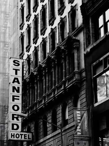 Koreatown, New York City New York City Photos Newyorkcity New York City New York Buildings New York City Streets Vintage Signs Black And White Collection  Eye4photography  IPhoneography Iphoneonly Iphonephotography Black And White Building