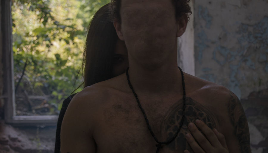 Shirtless Real People Adult Standing Rear View Day Focus On Foreground Portrait Young Adult Men Chest Lifestyles Scary Scary Face Without Face No Face Spooky Spooky Atmosphere Hug Hide Hide Out View Looking EyeEm Best Shots Togetherness