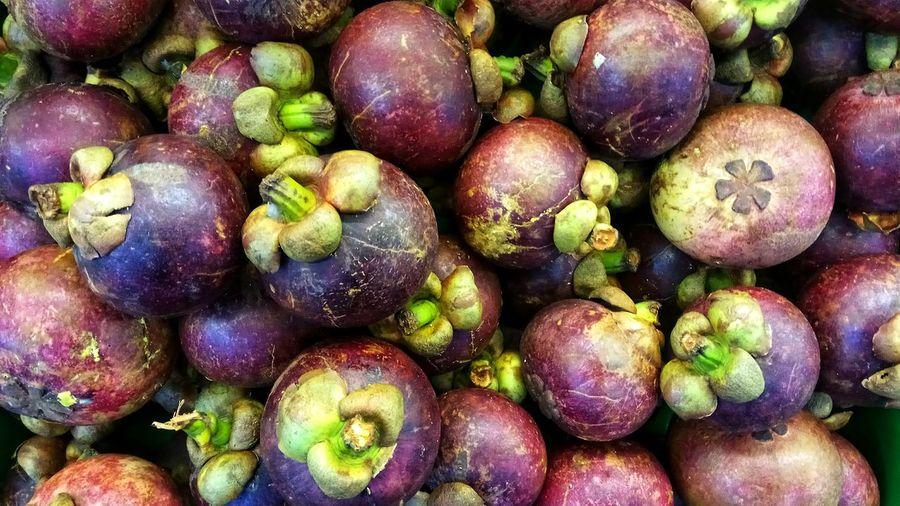 Full frame shot of fresh fruits for sale in market
