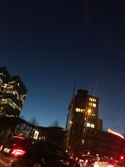 Illuminated Transportation Night Building Exterior Nofilter Built Structure Architecture Hamburg Traffic IPhoneography Sky 2017 Personal Perspective Skyisthelimit Europe