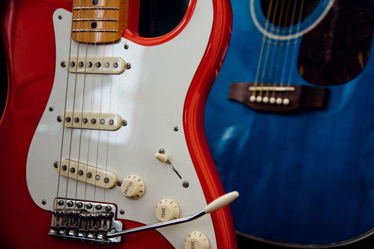 Close-Up Of Guitars