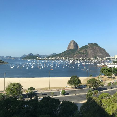 Rio é lindo Water Sky Clear Sky Copy Space Nature Sea Beach Day Mountain Land Architecture Beauty In Nature