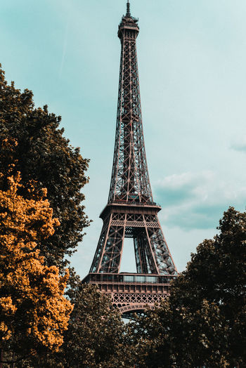 Paris France Paris France Paris ❤ Tree Tall - High Architecture Tower Low Angle View Built Structure Plant History The Past Sky Travel Destinations Tourism Nature Travel Metal No People City Day Architectural Feature Outdoors Iron - Metal