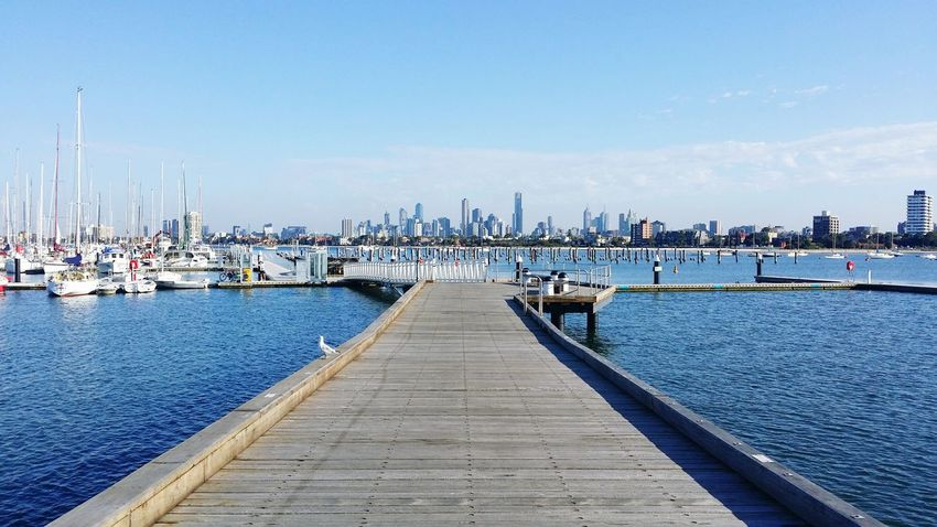 View of the city from the pier Stkilda Stkildapier Melbourne Australia Seemelbourne Beautifulview