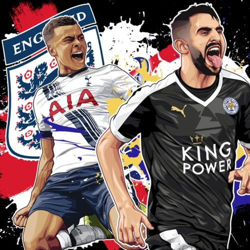 Just heard mahrez won pfa player of the year and delli Ali got young player well deserved here's my art #LCFC #THFC
