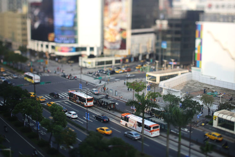 Ximending, Taiwan City Transportation Car Motor Vehicle Mode Of Transportation Street Architecture Building Exterior Land Vehicle Road Built Structure Traffic High Angle View City Street No People Tilt-shift City Life Building Day Outdoors Cityscape Tiltshift Ximending Cityscape