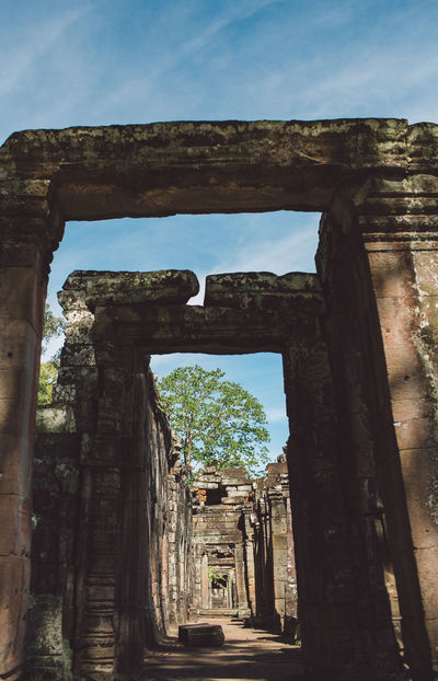 Siem Reap Cambodia Angkor Architecture Built Structure The Past History Ancient Travel Destinations Tourism Day Sky Travel Ancient Civilization Old Nature No People Arch Old Ruin Place Of Worship Religion Ruined Belief Outdoors Archaeology Deterioration