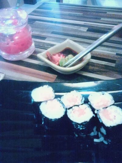 Late post. Sushi+wasabi+ginger... dinner after dinner. Dinner With Friends Sushi Japanese  Latepost ✌