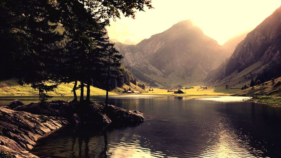 Seealpsee Mountain Water Reflection Scenics Lake Tranquil Scene Nature Beauty In Nature Landscape Love Yourself