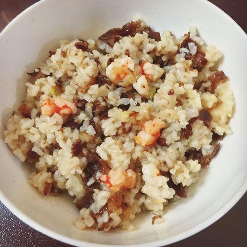 新年第一次下厨 肥牛鲜虾炒饭