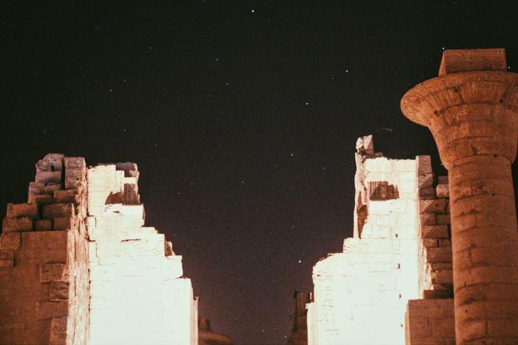 Egypt Luxor Luxor_temple Stars Sky Lights