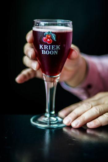 Belgian Beer Drink Drinking Food And Drink Fruit Beer Holding Kriek Refreshment