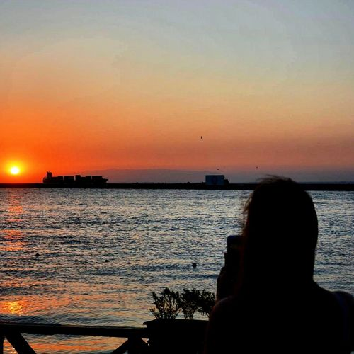 sunset at the west. Hello World Hanging Out Taking Photos ızmir StreetSpirit Sunset