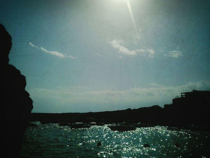 Tanning. Summertime Sea Landscape Sky