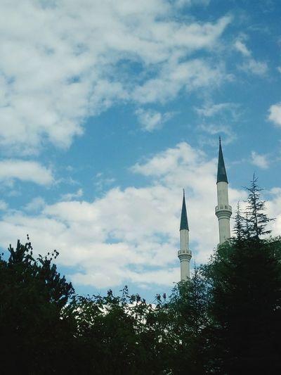 Mosque Tree Skyscraper Urban Skyline Sky Architecture Cloud - Sky Built Structure
