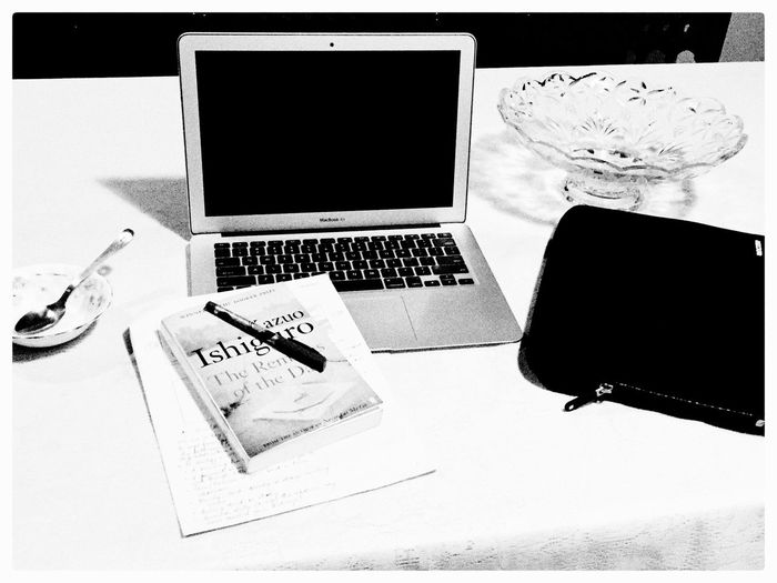 Shades Of Grey Work Related Presentation Prep Mac Book Air Current Read Pen & Paper Tech