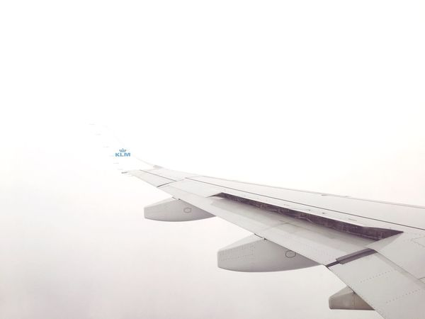 Beautiful white sky Abstract Clouds Airplane KLM