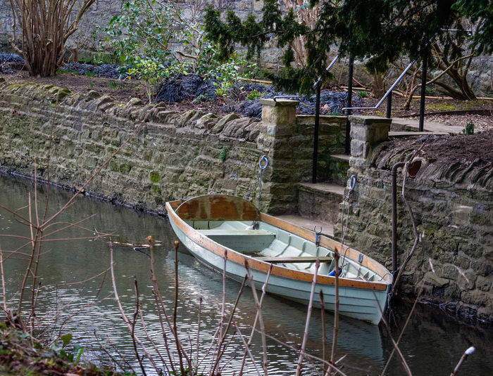 Water Nautical Vessel Mode Of Transportation Moored No People Rowboat Tranquility Building Exterior Waterfront