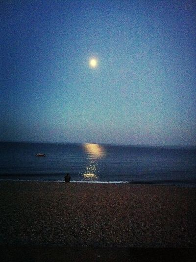 moonlight reflection on the sea