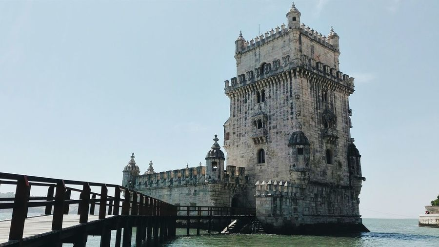 Torre de Belem, l i s s a b o n Architecture Built Structure Building Exterior History Tower Water Sea Clear Sky The Past Suspension Bridge Travel Destinations Outdoors Fortified Wall Tall - High Castle Waterfront Fort Sky Medieval Famous Place Torre De Belém Lissabon Torre Belém Belem Tower