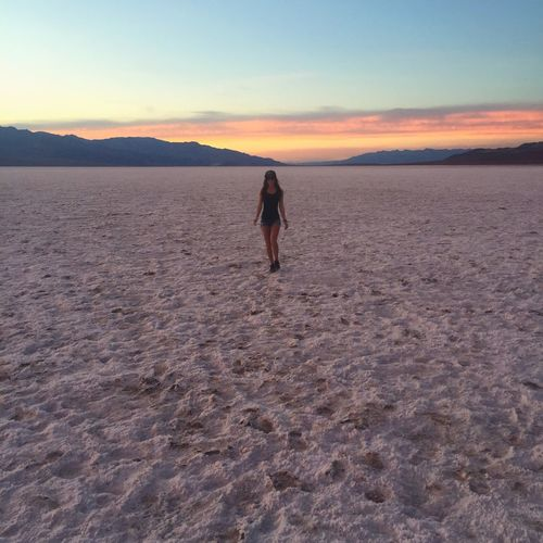 Lost In The Landscape Sunset Nature One Person Outdoors Iam Desert Death Valley