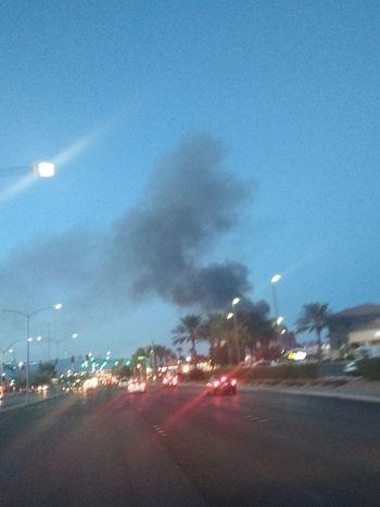 Night Illuminated Street Light Road Smoke - Physical Structure